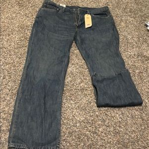 Dark washed Levi jeans!